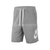 Nike 短褲 NSW Shorts 灰 白 男款 運動休閒 棉褲 【ACS】 AR2376-064