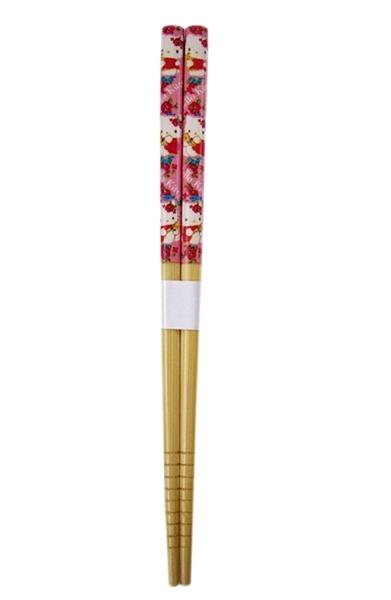 【卡漫城】 Hello Kitty 竹筷 扶桑花 單雙售 18cm ㊣版 日版 木筷 筷子 天然竹 凱蒂貓 三麗鷗