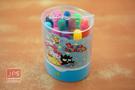 SANRIO Cute屁屁系列 12色 彩色筆 筒裝 Hello Kitty 藍