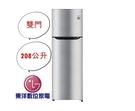 含運+安裝 LG Smart 變頻上下門冰箱/ 精緻銀 GN-L297SV