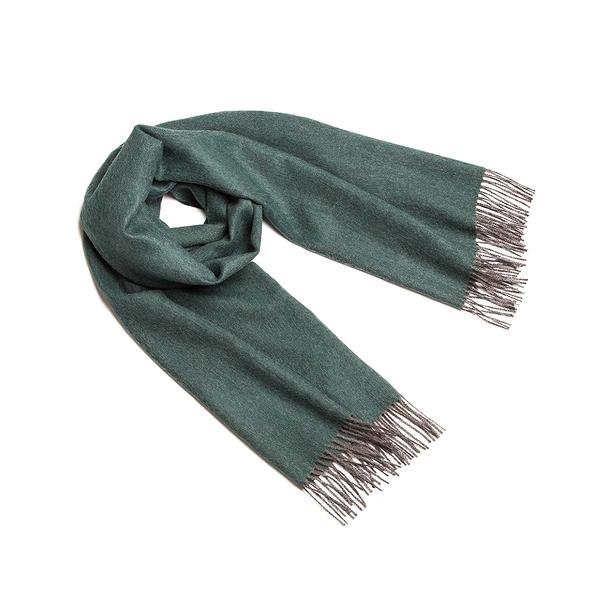 Alpaka Shawl Exclusive 65x200cm 極致魚骨紋系列 素面單色 羊駝毛 披肩 / 圍巾(內斂深綠)