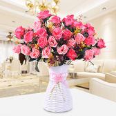 裝飾假花仿真花束客廳擺件室內茶幾餐桌擺設植物盆栽插花塑料絹花   mandyc衣間