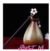 髮簪古代盤發簪子流蘇步搖發簪女古風發飾漢服頭飾古裝配飾挽發釵木簪 交換禮物