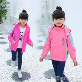 兒童運動外套 中大童女裝女童外套學生兒童運動風衣沖鋒衣 寶貝計畫