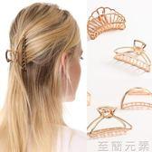 歐美簡約復古盤髮大號抓夾髮夾洗澡合金髮抓髮卡頂夾成人髮飾頭飾 至簡元素
