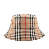 【BURBERRY】Vintage 格紋科技布料棉質漁夫帽(典藏米色) M/L/XS號 8026927 A7026