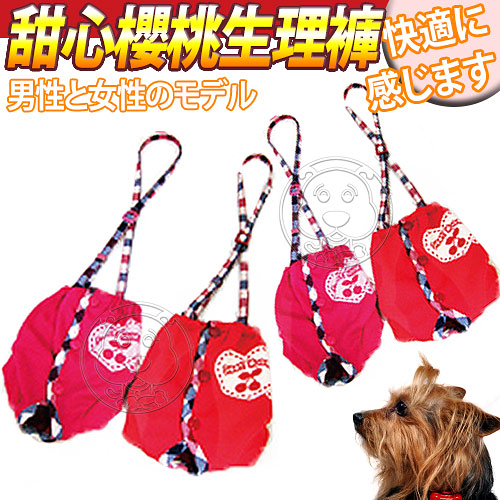 【培菓平價寵物網】台灣DAB PET》狗狗甜心吊帶生理褲(L/XL號)