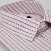 【金‧安德森】白底粉色線條短袖襯衫