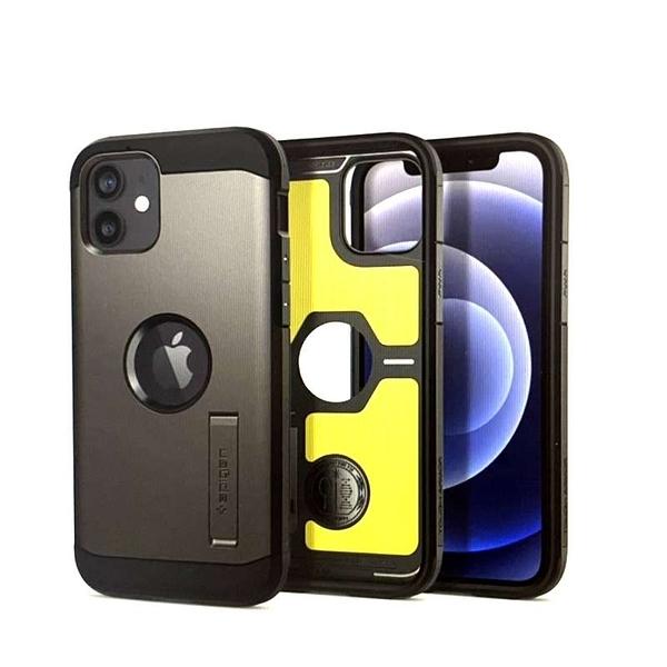[9東京直購] Spigen iPhone 12 Mini (5.4吋) 手機保護殼 防刮 防震符合MIL規格 Qi無線充電 古銅/黑 兩色可選