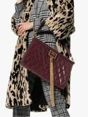 ■專櫃52折 ■2019新品■ Givenchy BB505鑽石菱格紋 大款 GEM 山羊皮復古流蘇包 酒紅色