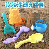 兒童沙灘玩具套裝寶寶軟膠鏟子玩沙工具車沙漏決明子玩具沙組合 1件免運