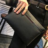 手拿包男大容量皮夾錢夾休閒日系【聚寶屋】