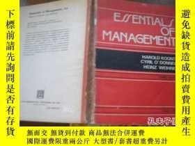 二手書博民逛書店ESSENTIALS罕見OF MANAGEMENTY205889
