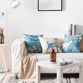 抱枕北歐床頭棉麻正方形簡約客廳沙發腰靠枕辦公室靠墊臥室靠背 igo全館免運