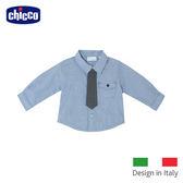 chicco-小騎士可拆式領帶襯衫