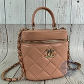 BRAND楓月 CHANEL 香奈兒 29開 AS1626 粉色 VANITY CASE 化妝箱包 斜背包 手提包