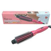 【限宅配】Pingo品工 粉紅陶瓷電棒捲髮梳/電棒梳 25mm 1入【BG Shop】