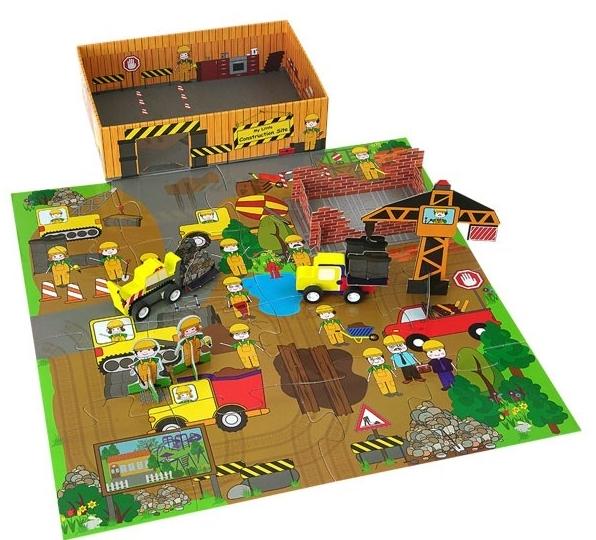 【我的專屬工地 MY LITTLE CONSTRUCTION SITE】內含故事書+拼圖+木質偶