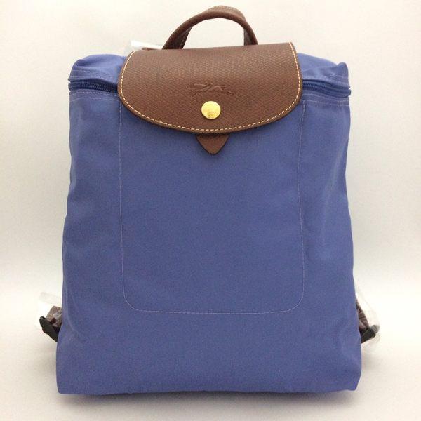 法製LONGCHAMP摺疊款  (薰衣草紫) 拉鍊後背包~法製