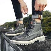 馬丁靴男秋冬棉鞋雪地靴男士皮靴短靴子加絨保暖中高幫男 童趣屋