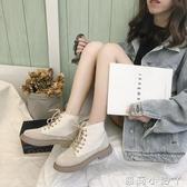 短靴新款秋季ins白色馬丁靴女英倫風學生百搭短筒春秋女 蘿莉小腳ㄚ