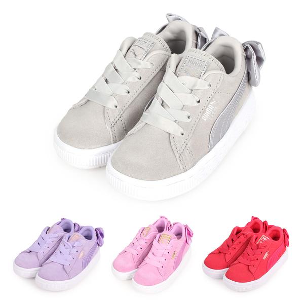 PUMA Suede Bow AC Inf 女兒童休閒運動鞋(蝴蝶結款)(慢跑≡體院≡ 367320