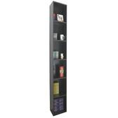 六層間隙書櫃 收納櫃 置物櫃(寬24x深30.3x高180/公分)防潮書櫃-深咖啡色 MIT台灣製W246T-CF