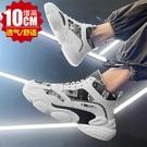 內增高男鞋 內增高男鞋10cm8cm6cm隱形增高鞋男高幫帆布鞋夏季透氣休閒運動鞋