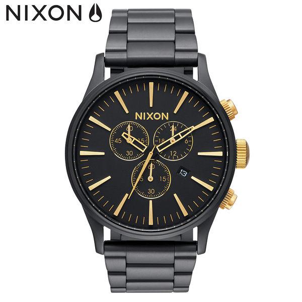 NIXON 手錶 原廠總代理 A386-1041 Sentry Chrono 潮流時尚鋼錶帶 男女適用 運動 生日 情人節禮物