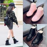 童鞋女童靴子秋冬季加絨寶寶短靴兒童馬丁靴皮靴雪地靴小  【2021新春特惠】