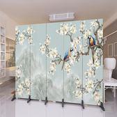 訂製        歐式屏風隔斷墻現代時尚簡約簡易宜家客廳辦公室移動實木折疊折屏igo      琉璃美衣