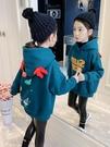 女童上衣 女童衛衣加厚冬裝2021新款洋氣女孩連帽卡通衣服冬季兒童上衣【快速出貨八折鉅惠】