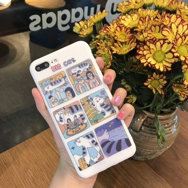 【SZ15】日韓小貓可愛貓咪軟殼 iphone 6s手機殼 iphone 7/8/ plus手機殼 iphoneX手機殼