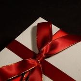 2卷 聖誕緞帶度鑲金邊綢帶禮盒包裝手工拉花蝴蝶結【極簡生活】