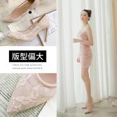 Ann'S迷樣誘惑-半透蕾絲性感尖頭高跟鞋-粉