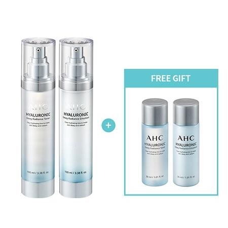 韓國 AHC 高效B5神仙水乳液四件組 神仙水 保濕 化妝水 乳液 旅行組 A.H.C