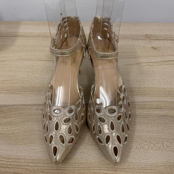 基本款細跟一字扣高跟鞋工作鞋(23.5-24號/跟高7/121-6535)