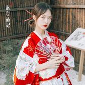 年末鉅惠 日本女士和服正裝浴衣睡袍長款傳統和服個人寫真演出服裝
