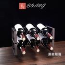 酒架歐式創意紅酒架擺件酒瓶架現代簡約家用酒櫃客廳家居擺設葡萄酒架xw