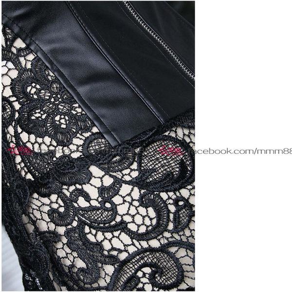 衣美姬♥一件式連身性感托胸收腹馬甲 甜美氣質蕾絲火辣睡衣 麻豆外拍攝影服