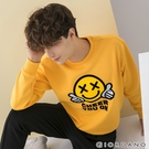 【GIORDANO】 男裝CHEER YOU ON大學T恤 - 06 侏儸紀黃金