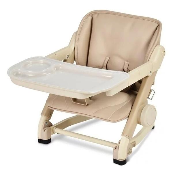 英國 unilove Feed Me 攜帶式寶寶餐椅/珍珠奶茶色系-椅身+皮革墊(奶茶色)[衛立兒生活館]