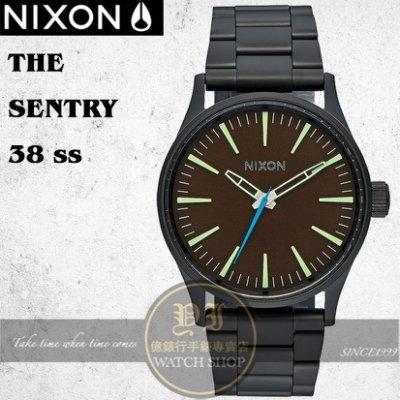 NIXON 實體店THE SENTRY 38 SS潮流腕錶A450-712公司貨/極限運動/潮流