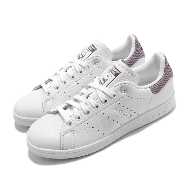 adidas 休閒鞋 Stan Smith W 白 紫 女鞋 三葉草 史密斯 運動鞋 【ACS】 H68626