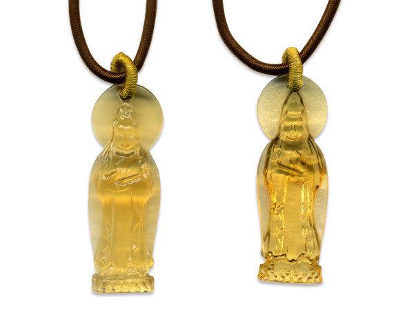 鹿港窯~開運古法水晶琉璃項鍊~蓮花觀音◆附精美包裝◆免運費送到家