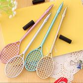 【BlueCat】時尚金屬羽毛球拍網球拍造型中性筆