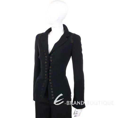 GBR 黑色仿舊金屬環裝飾西裝外套 0510907-01