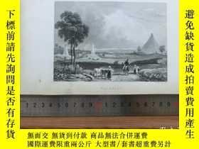 二手書博民逛書店【罕見】19世紀 銅 鋼版畫 單幅 WATERLOO( 2003