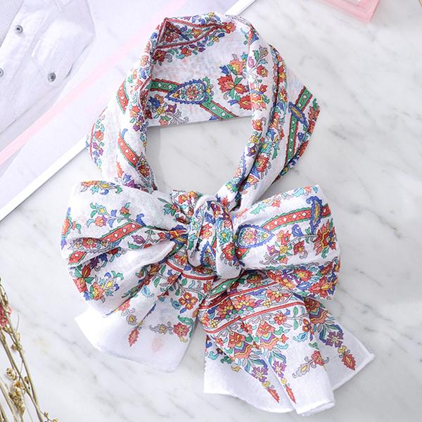 日本集彩苑 - 圖騰 gauze披肩/圍巾/方巾(紅)《日本設計製造》
