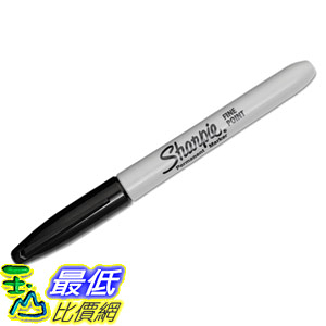 [8美國直購] 標記筆 Sharpie 30001 Fine Point Permanent Marker Black Dozen